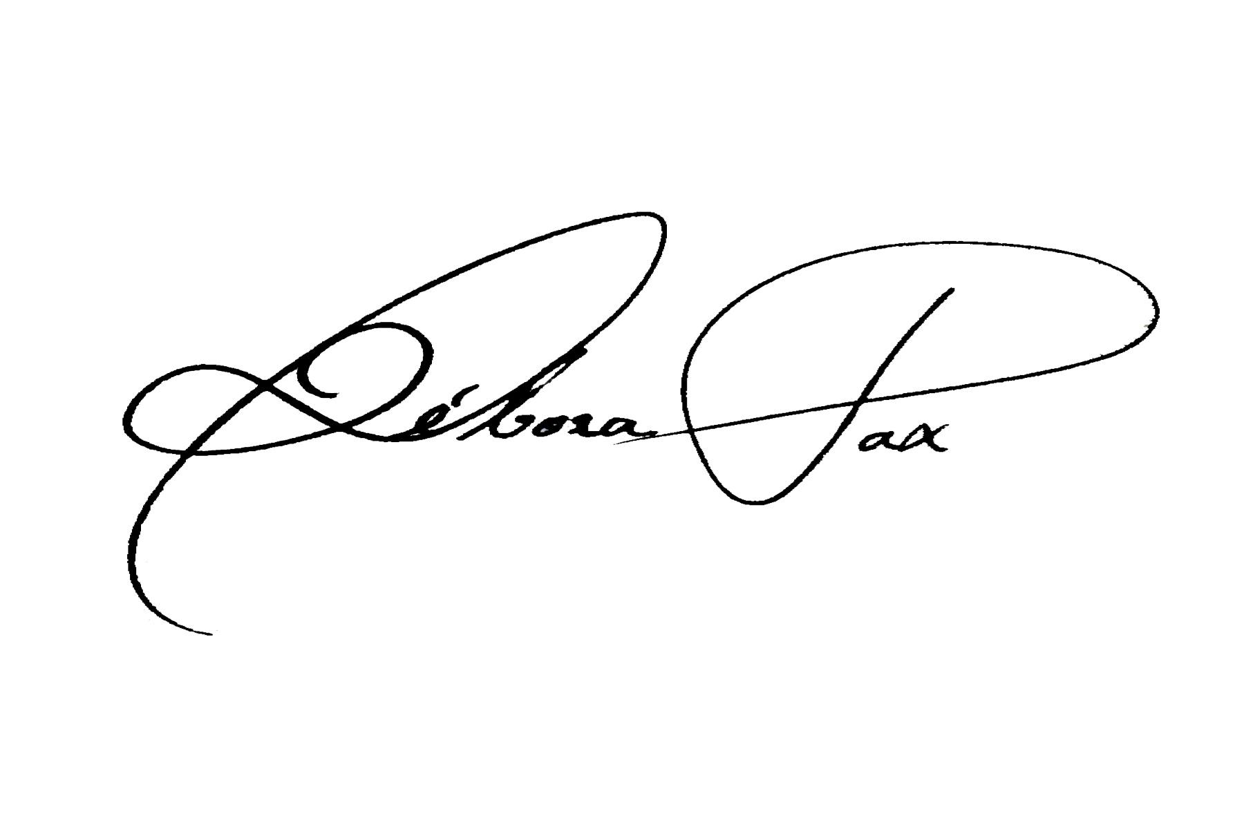 Débora Pax Signature