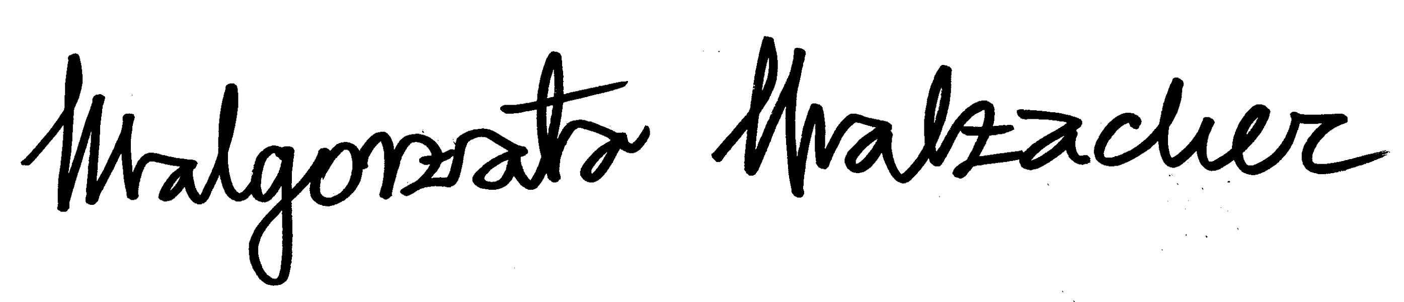 Malgorzata Malzacher Signature