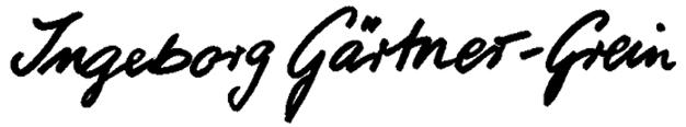 Ingeborg Gärtner-Grein Signature