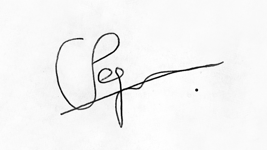 chris pegman Signature