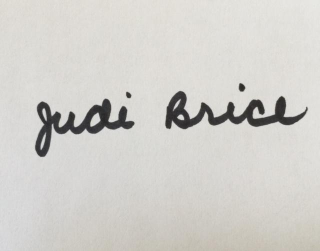 Judi Brice Signature