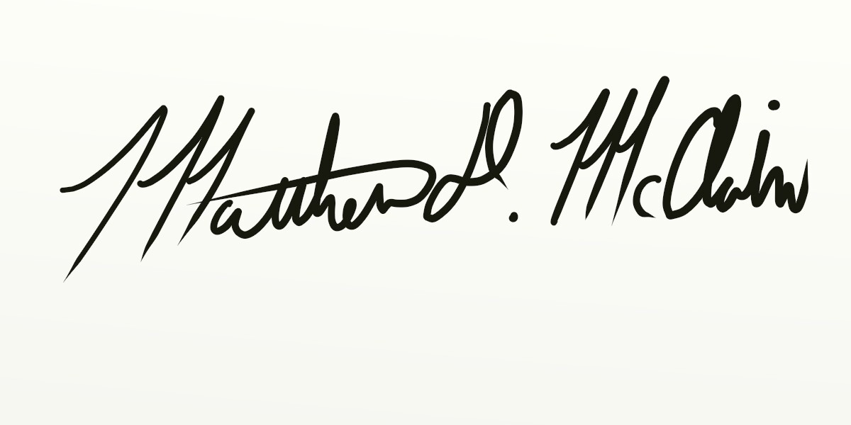 Matthew McClain Signature