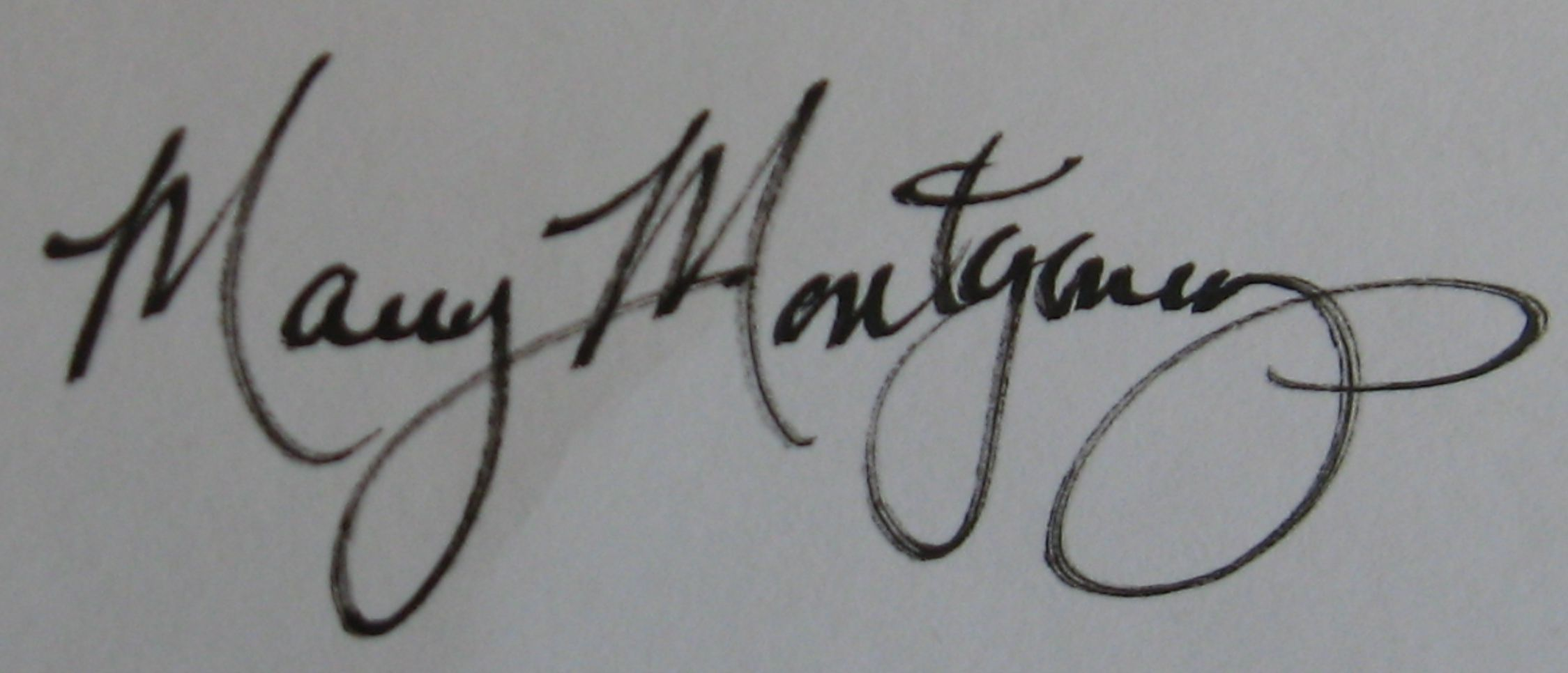 Mary Montgomery Signature
