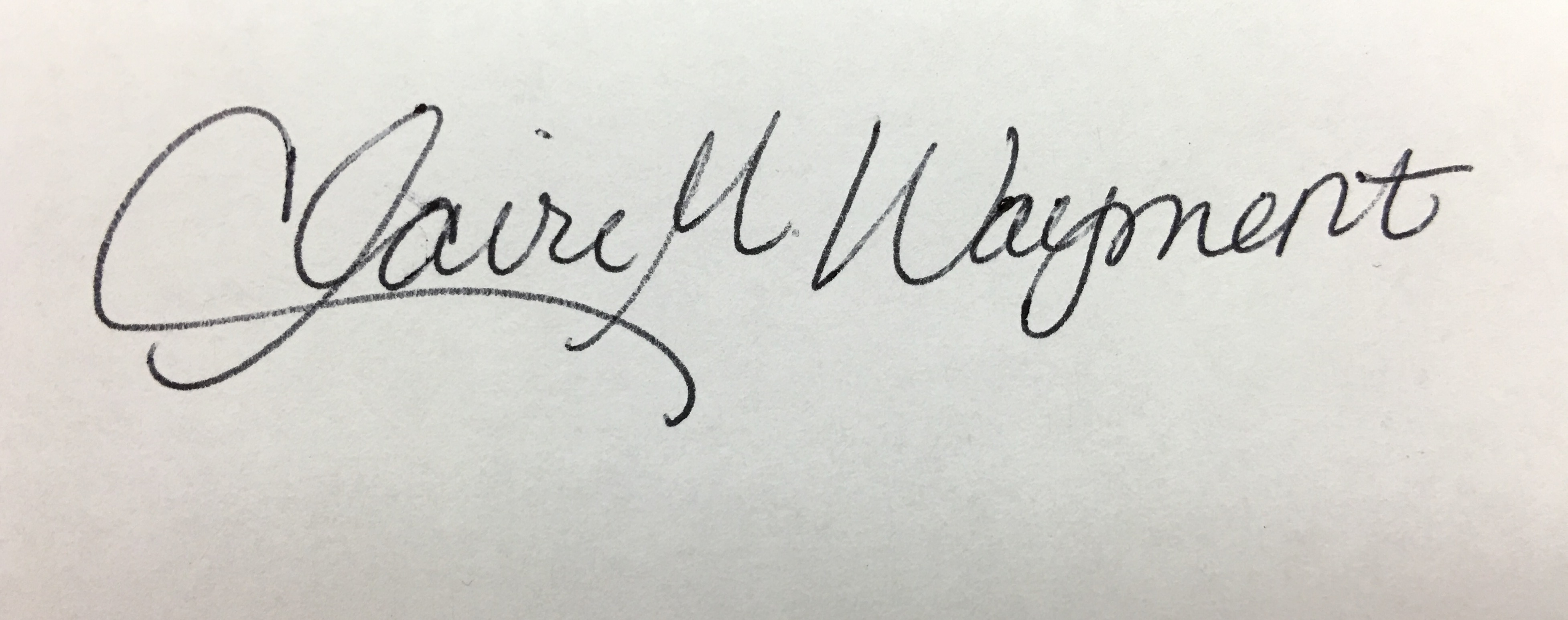 claire Wayment Signature