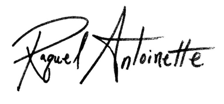 Raquel Antoinette Signature