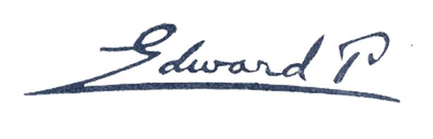 Eduard Pecaj Signature