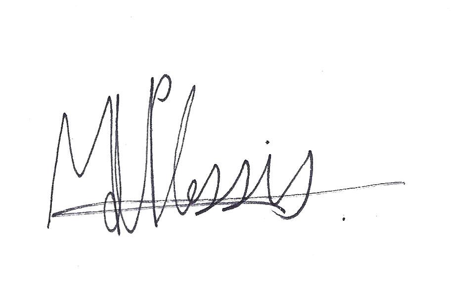 Mia du Plessis Signature