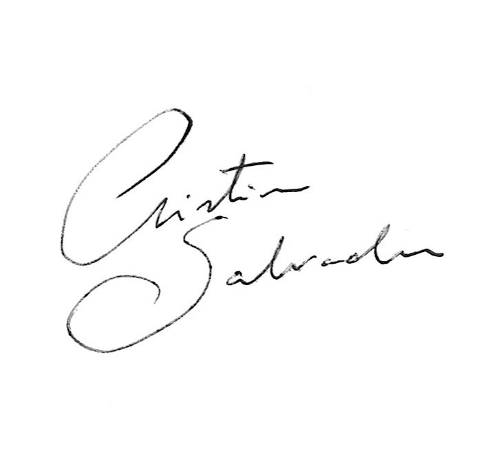Cristina Salvador Signature