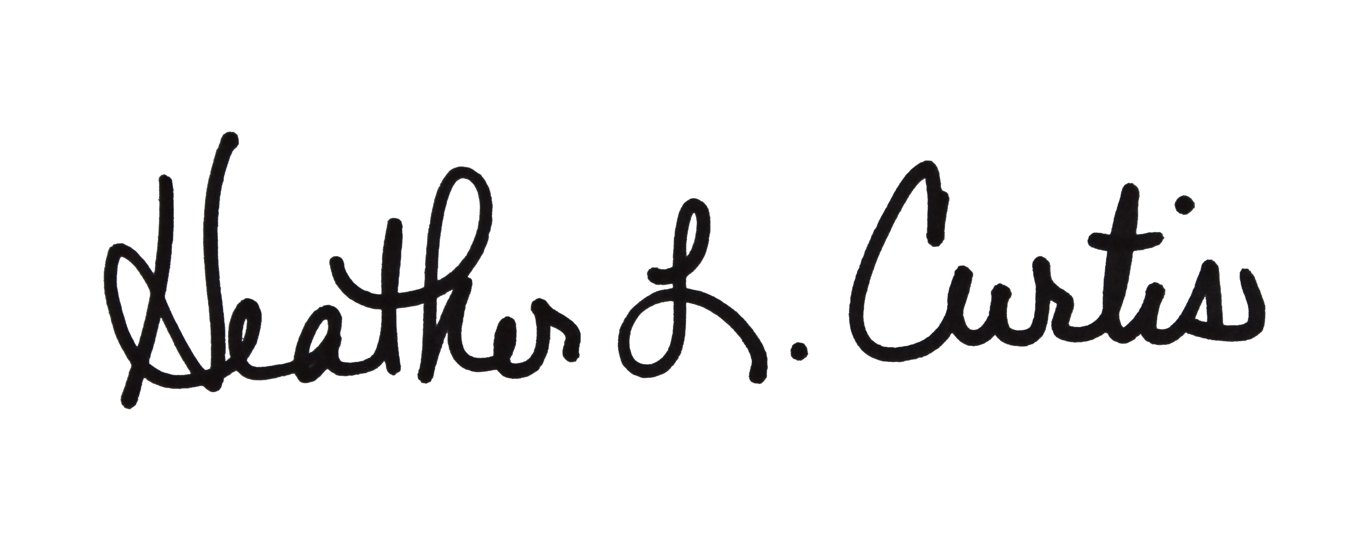 Heather Curtis Signature