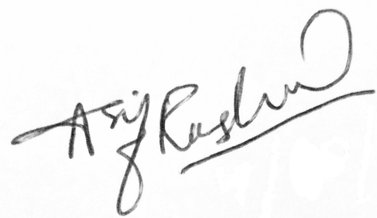 Asif Rasheed Signature