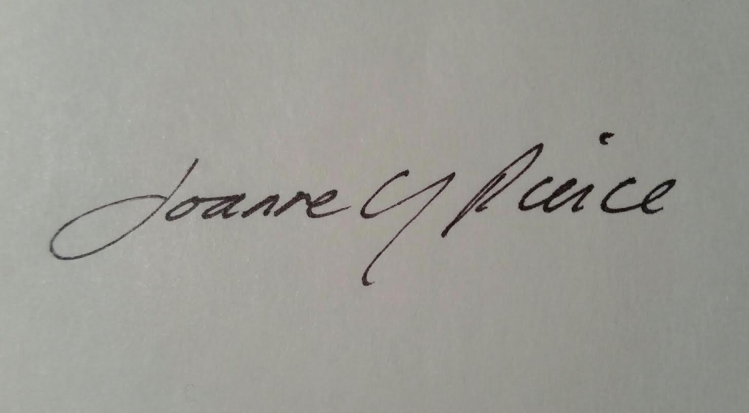 Joanne Pierce Signature
