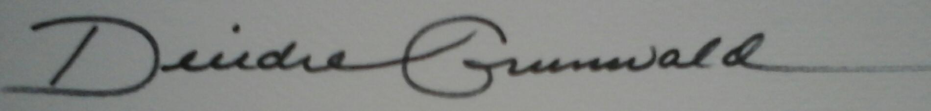 Deirdre Grunwald Signature
