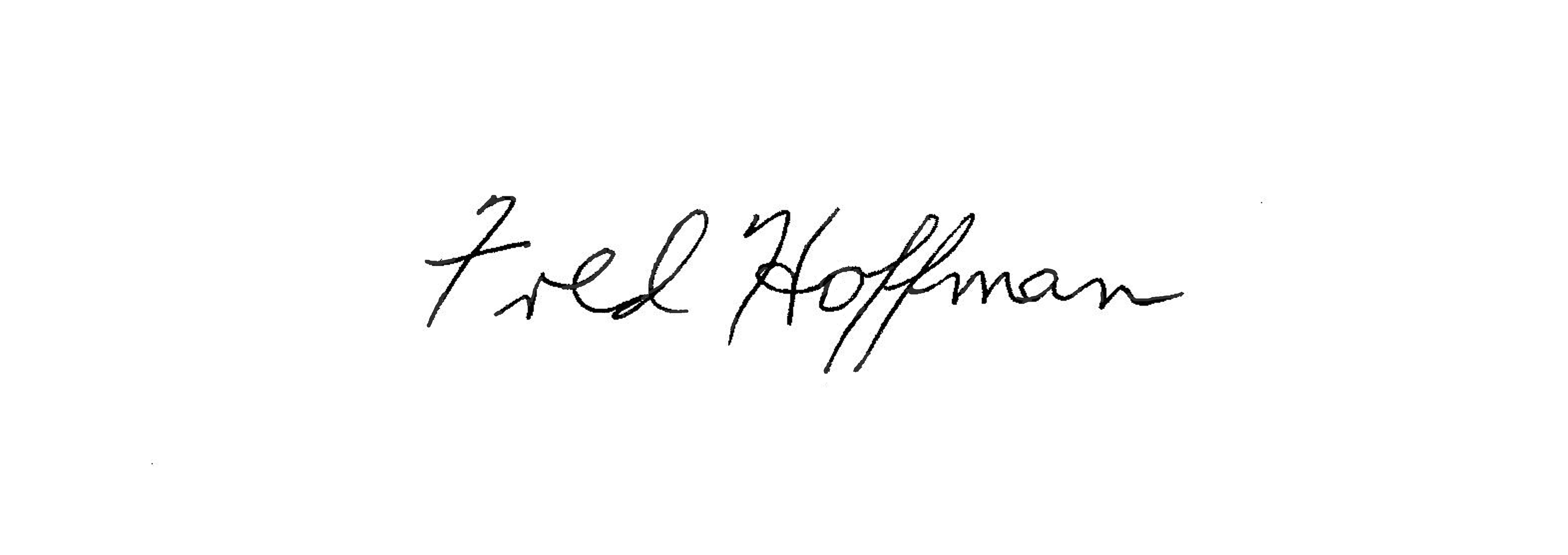 Fred Hoffman Signature