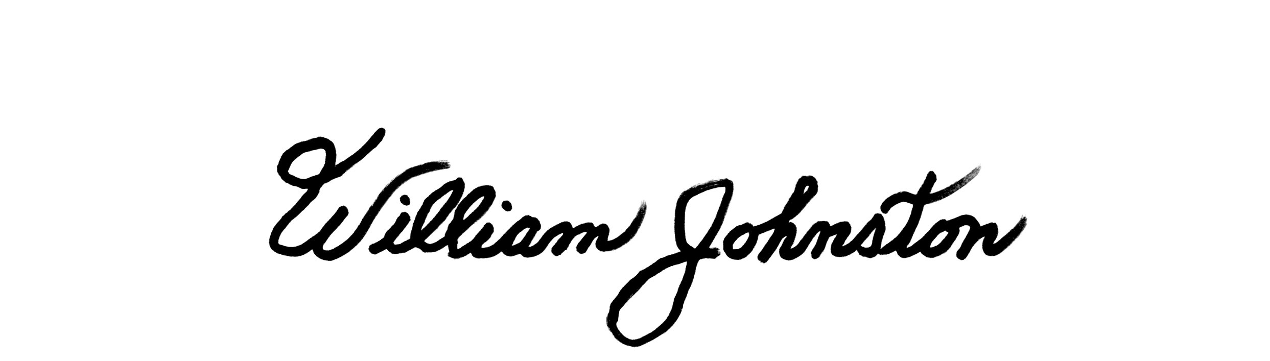 William Johnston Signature