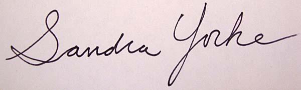 Sandra Yorke Signature