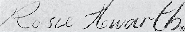 Rosemary Howarth Signature