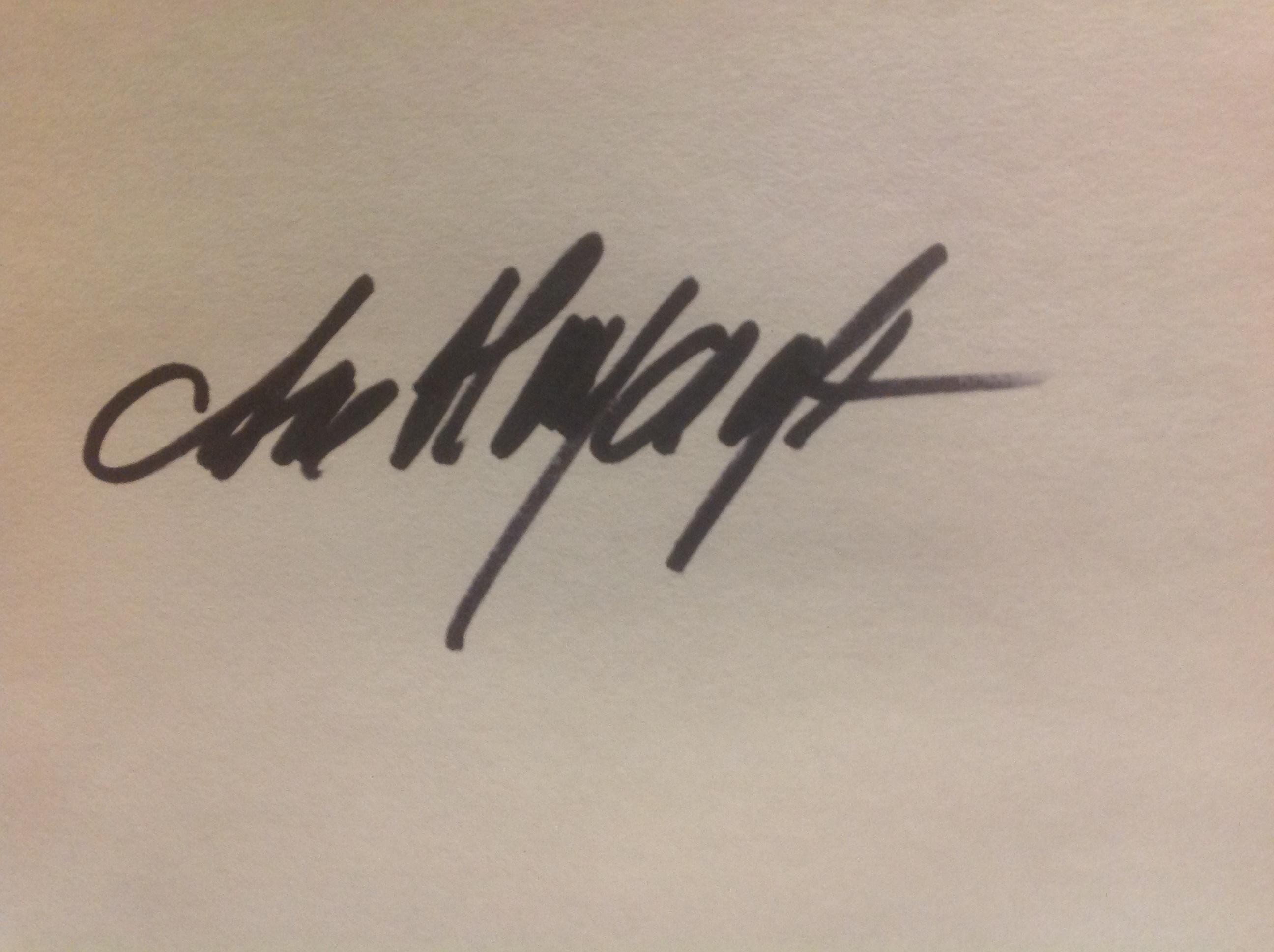 Ane Haycraft Signature