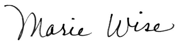 Marie wISE Signature