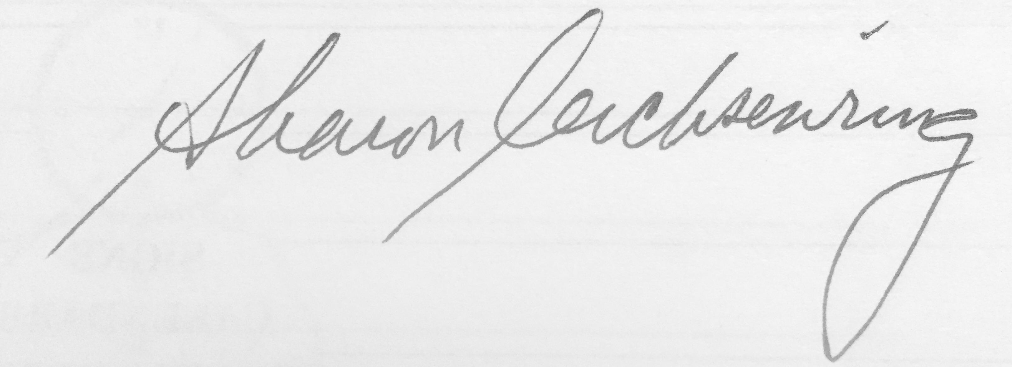 Sharon Leichsenring Signature