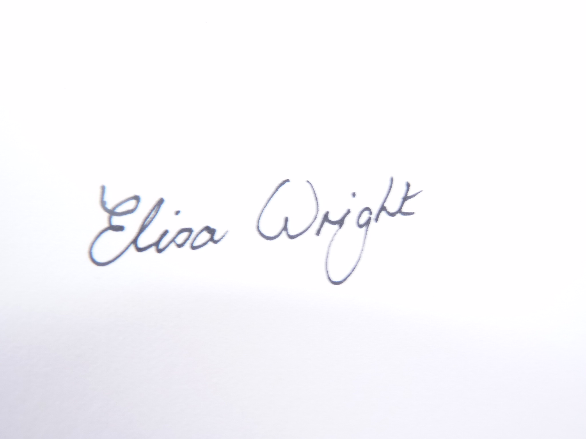 Elisa Wright Signature