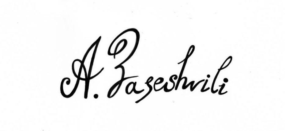 Ana Zaseshvili Signature