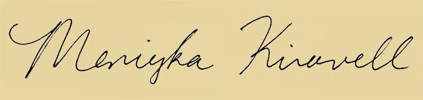Meniyka Kiravell Signature