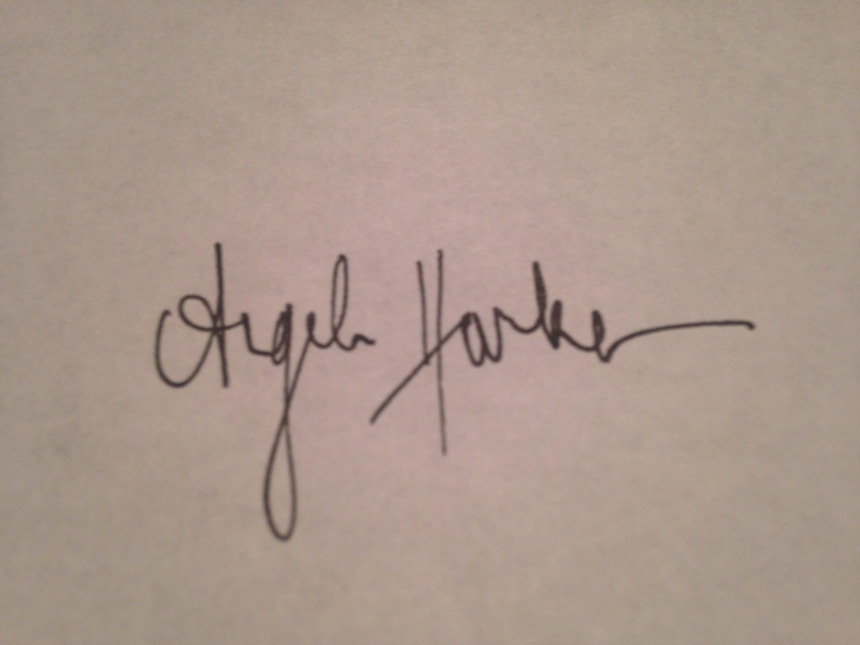 Angela Harken Signature