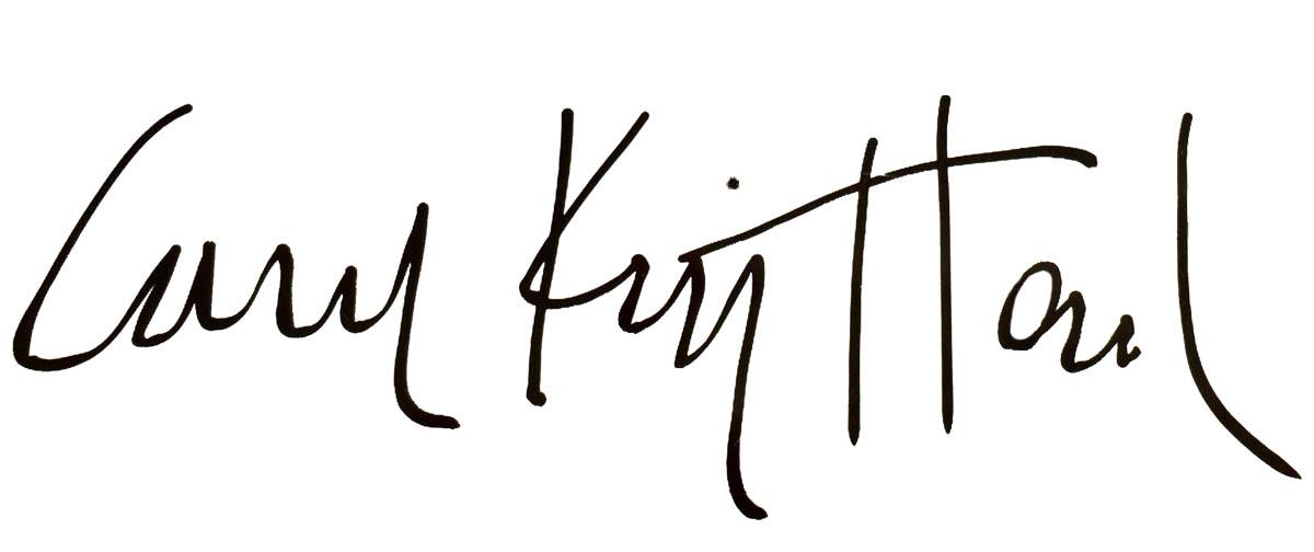 Carol King Hood Signature