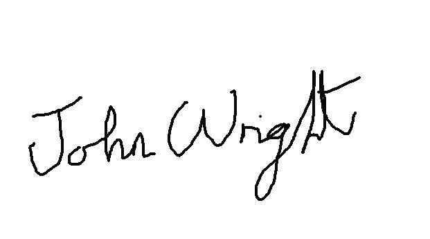 John Wright Signature