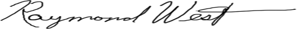 Raymond West Signature