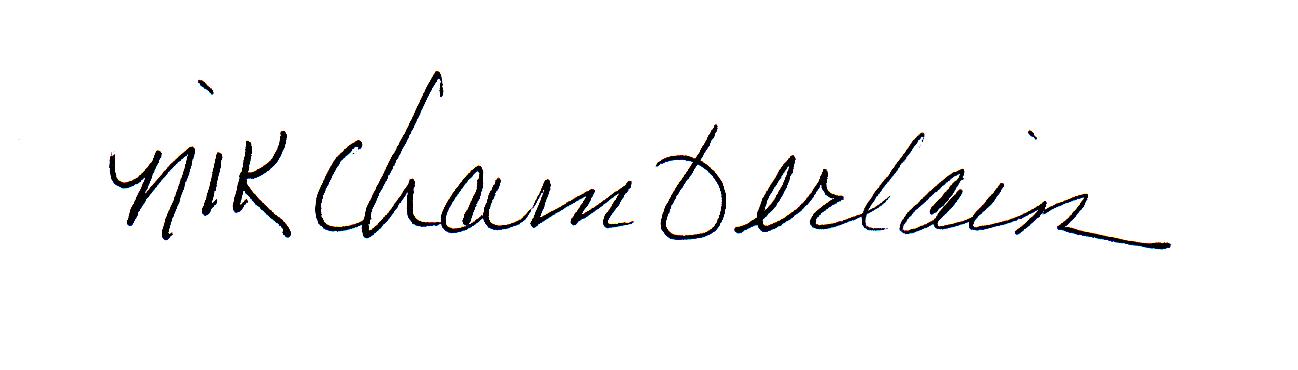 nik chamberlain Signature