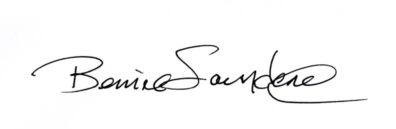 Bernie Saunders Signature