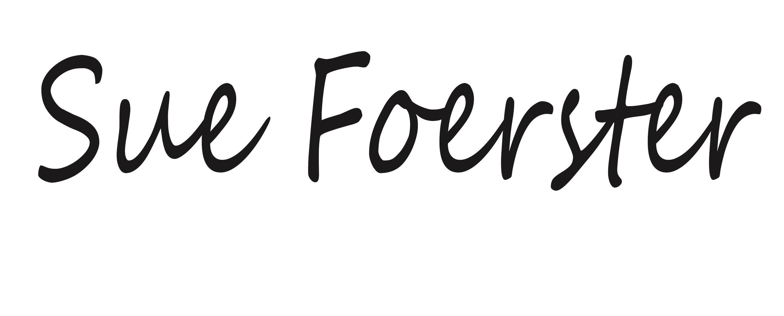 Sue Foerster Signature