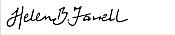 Helen B Farrell Signature