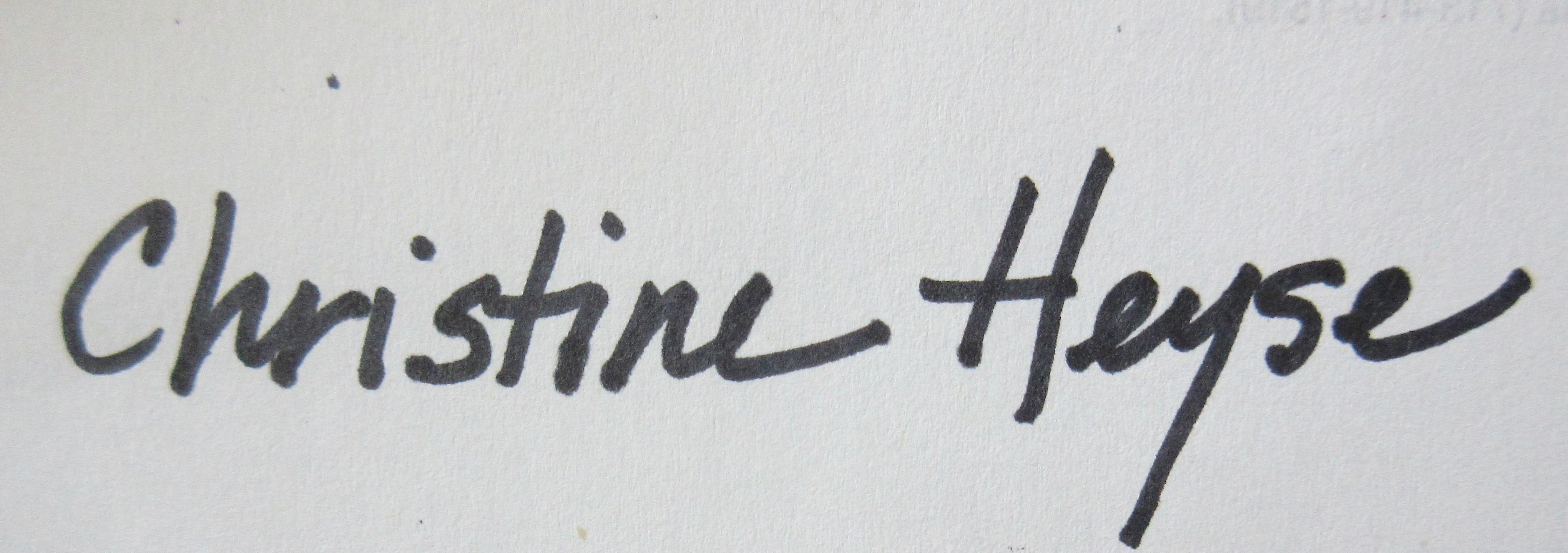 Christine Heyse Signature