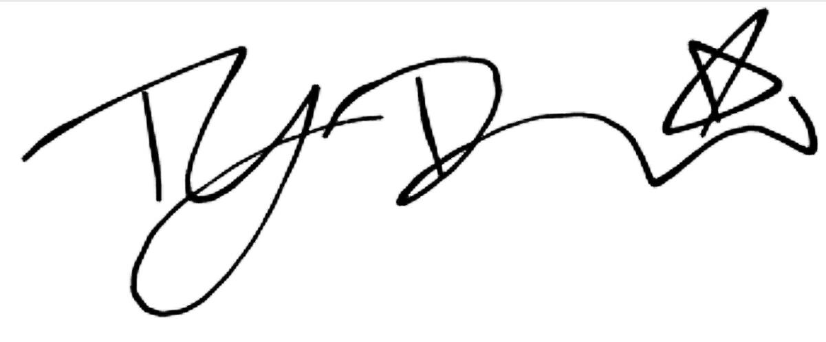 ty davis Signature