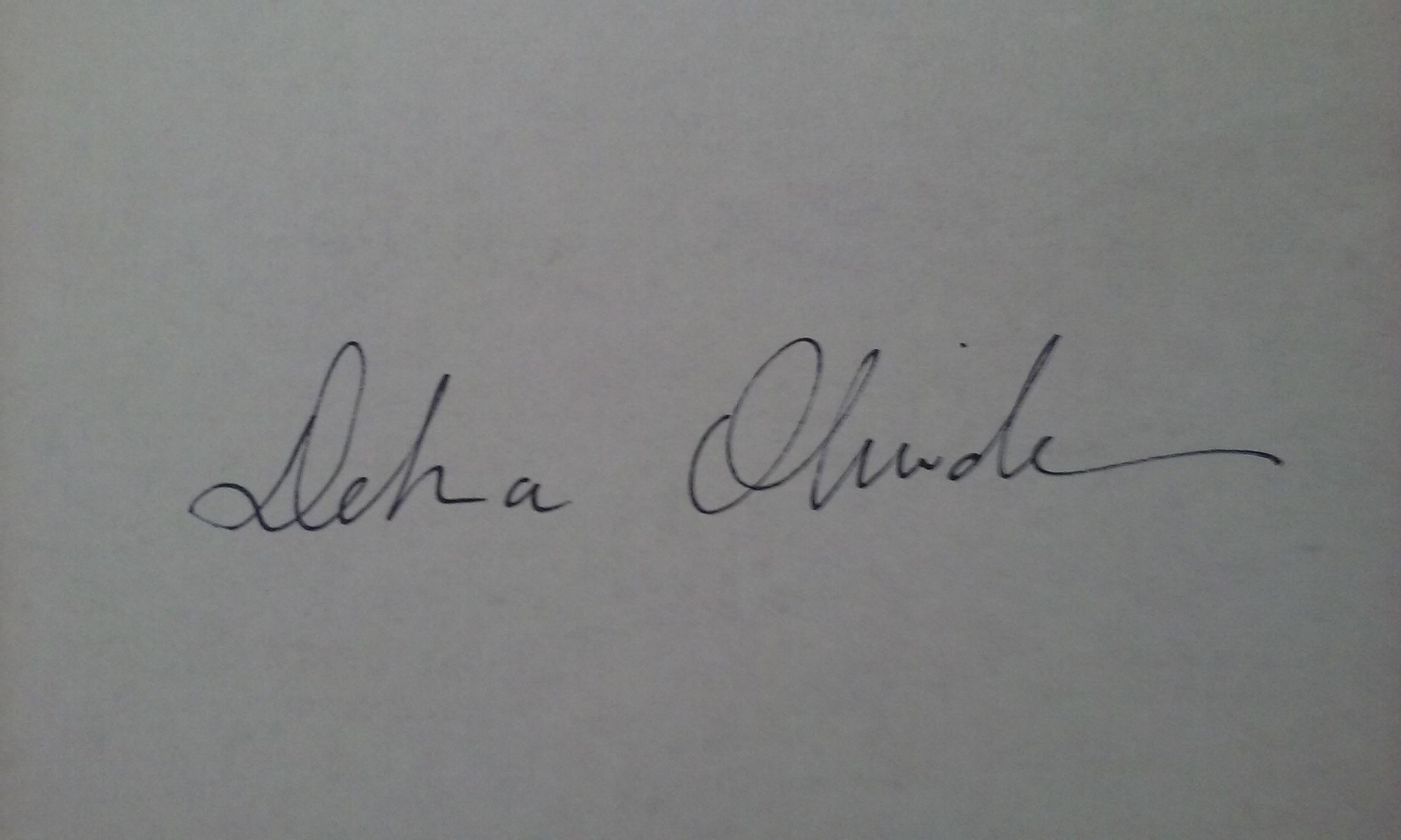Debra Olivadese Signature