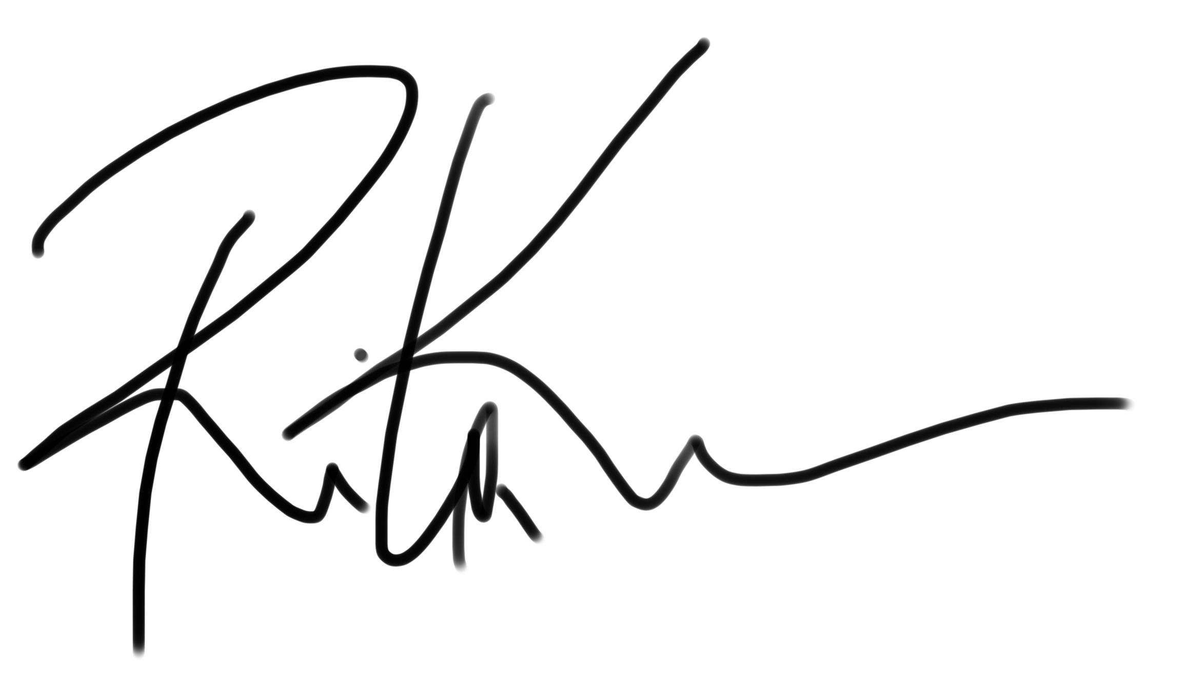 rita karam Signature