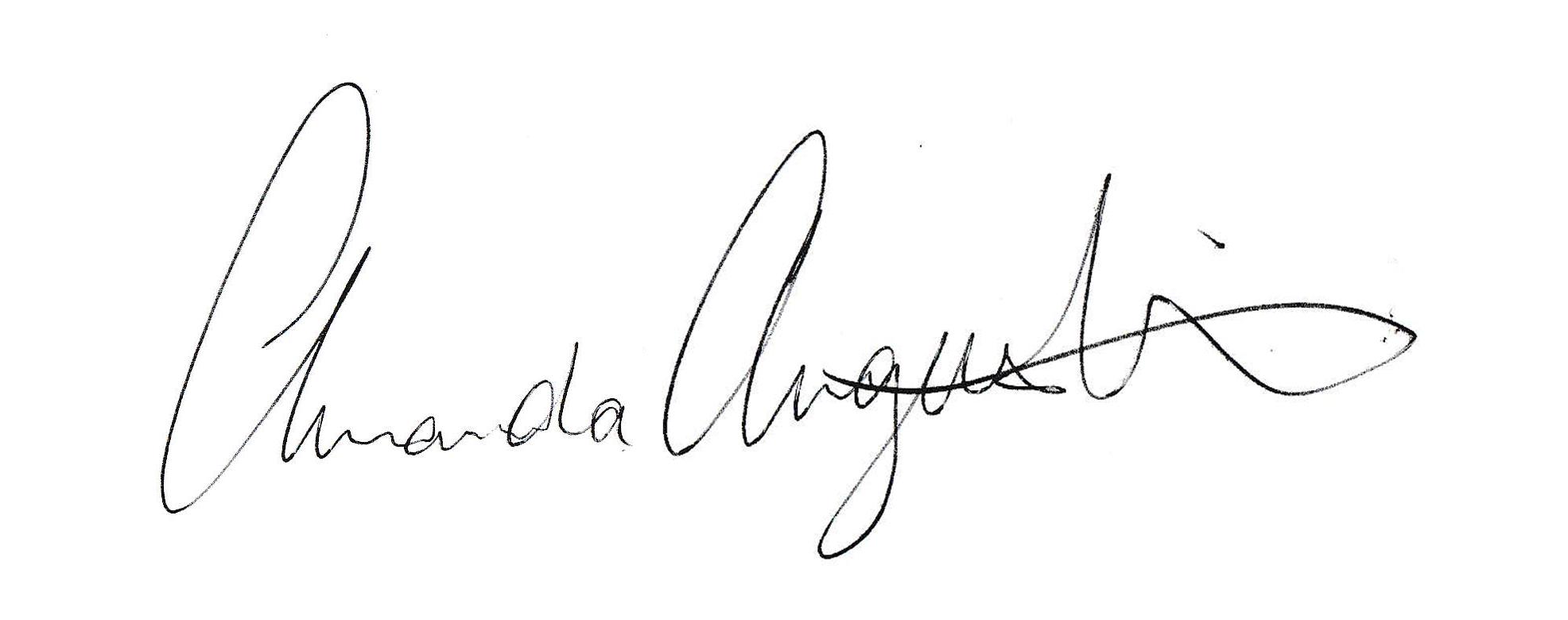 Amanda Augustine Signature