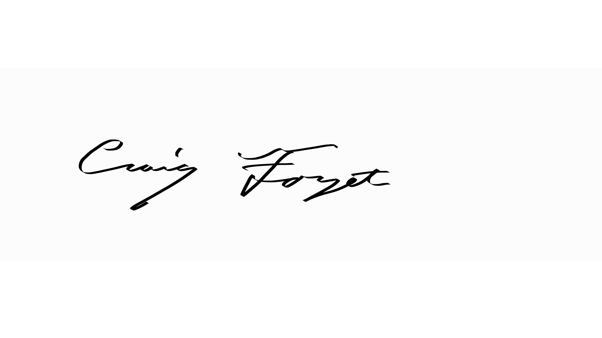 Craig  Forget Signature