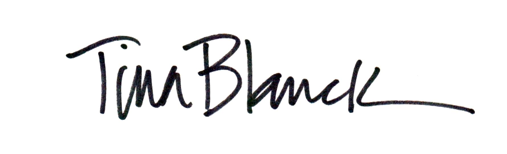 Tina Blanck Signature