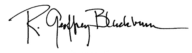R. Geoffrey Blackburn Signature