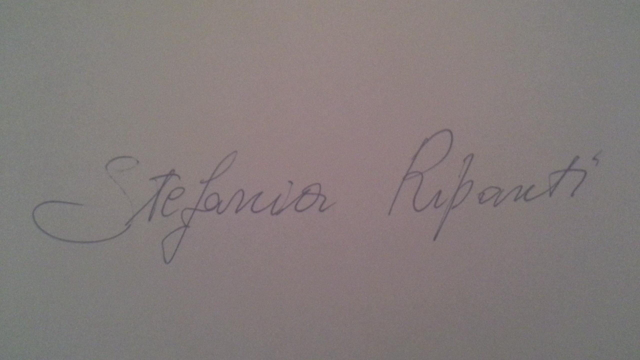 Stefania Ripanti Signature