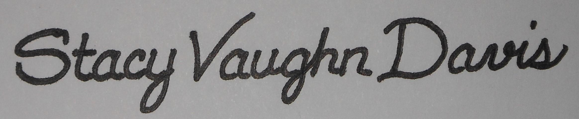 Stacy Davis Signature