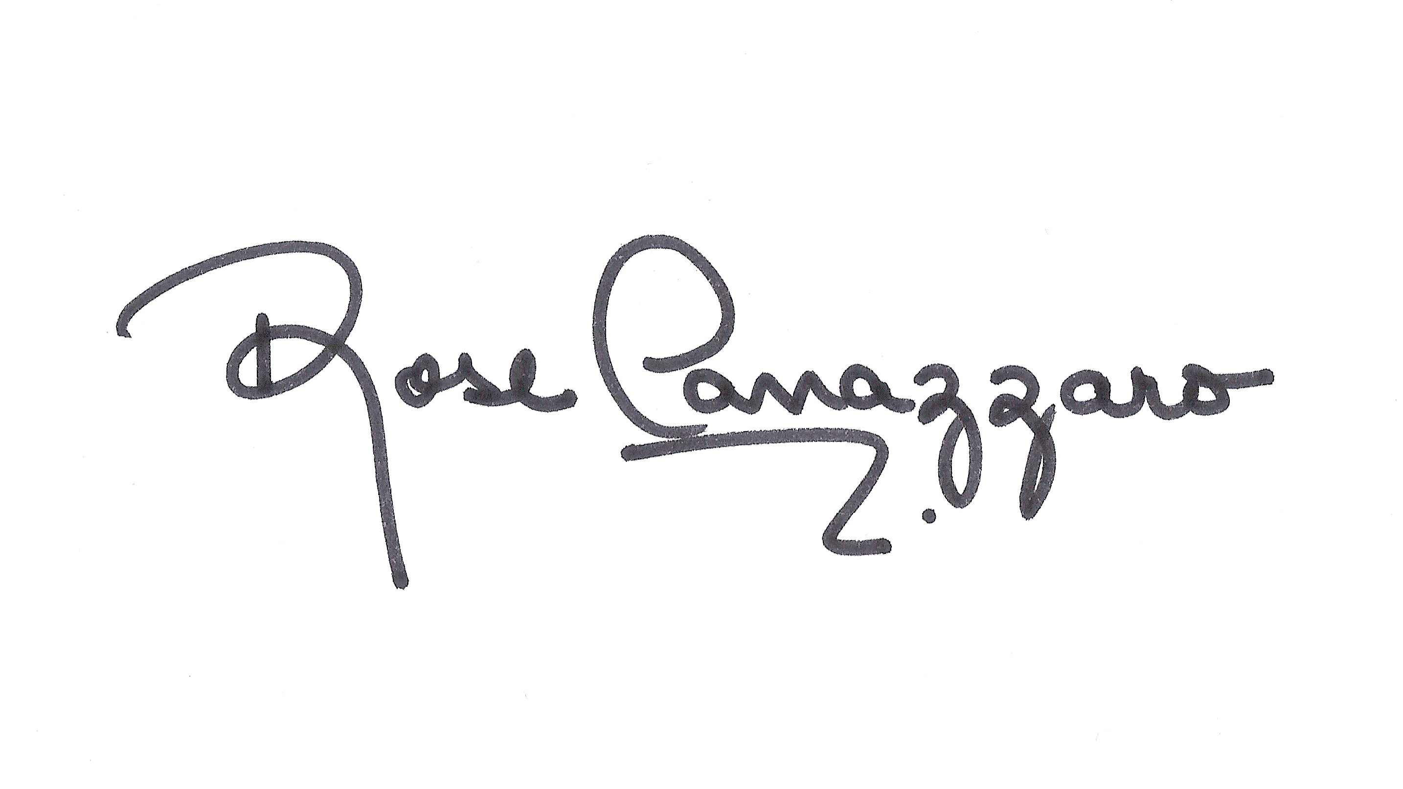 Rose Canazzaro Signature