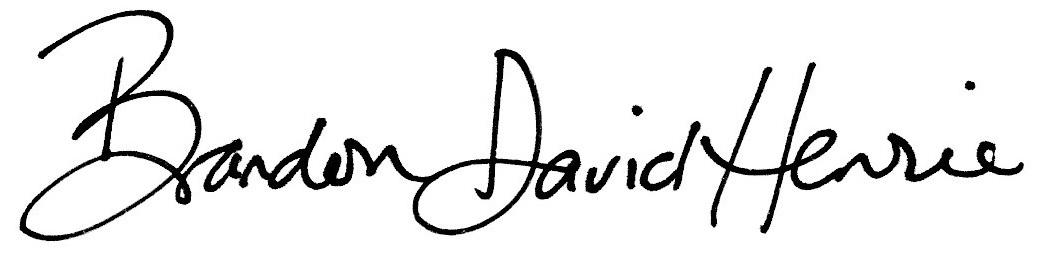 Brandon David Henrie Signature