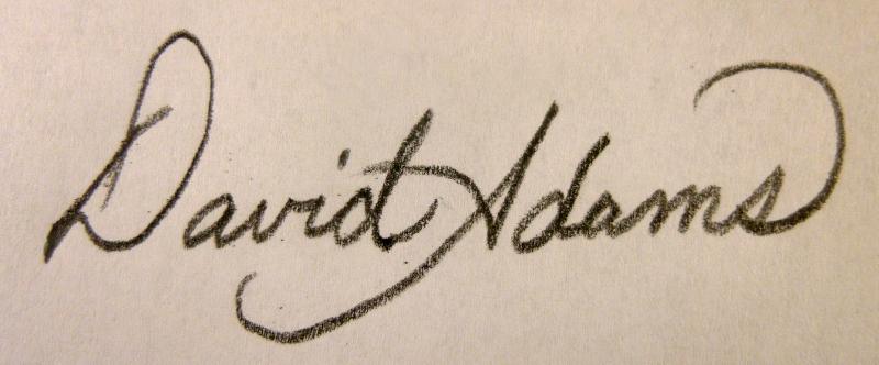 David Adams Signature