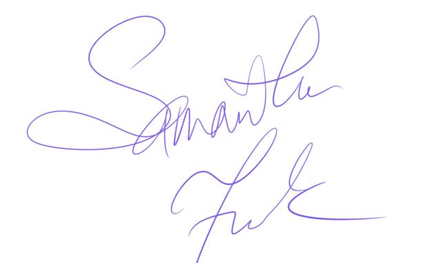 Samantha Frank Signature
