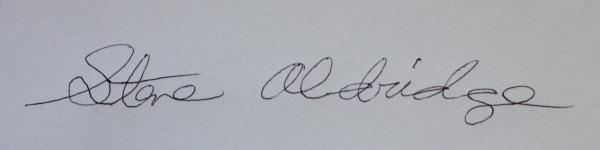 Steve Aldridge Signature