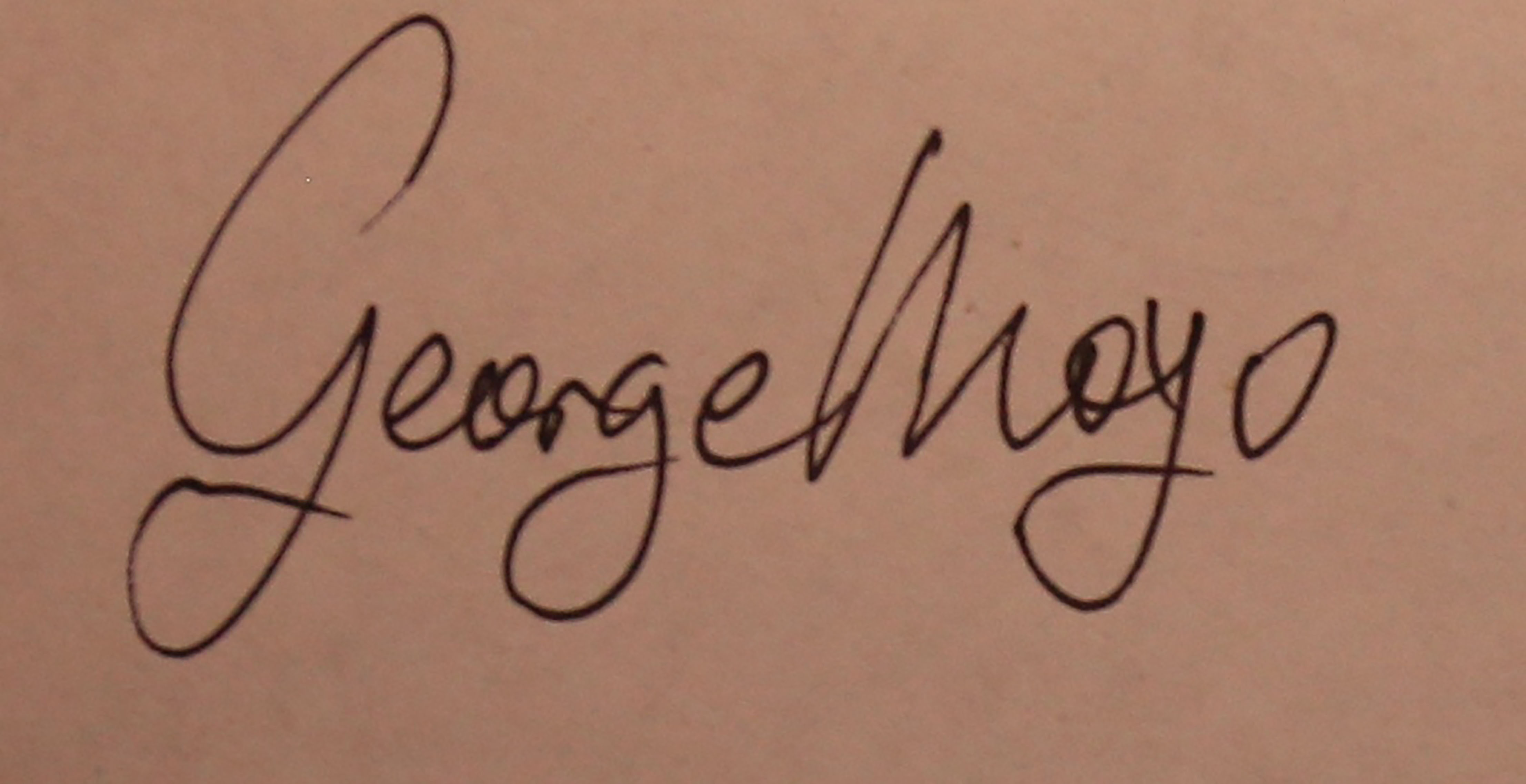 George Moyo Signature